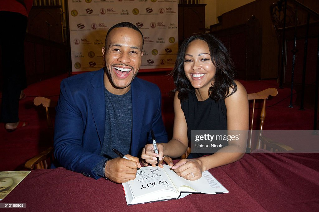 """Meagan Good And DeVon Franklin Book Signing For """"The Wait"""""""