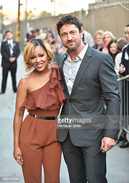 Meagan Good and Gerard Butler are seen on June 10 2014 in Los Angeles California