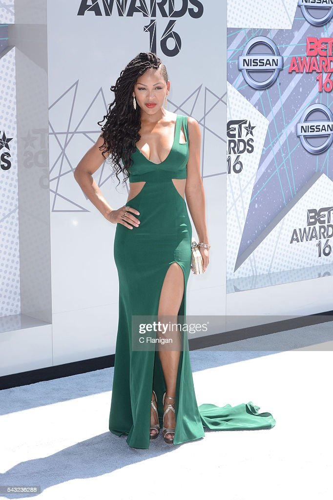 <a gi-track='captionPersonalityLinkClicked' href=/galleries/search?phrase=Meagan+Good&family=editorial&specificpeople=171680 ng-click='$event.stopPropagation()'>Meagan Good</a> attends the 2016 BET Awards at Microsoft Theater on June 26, 2016 in Los Angeles, California.