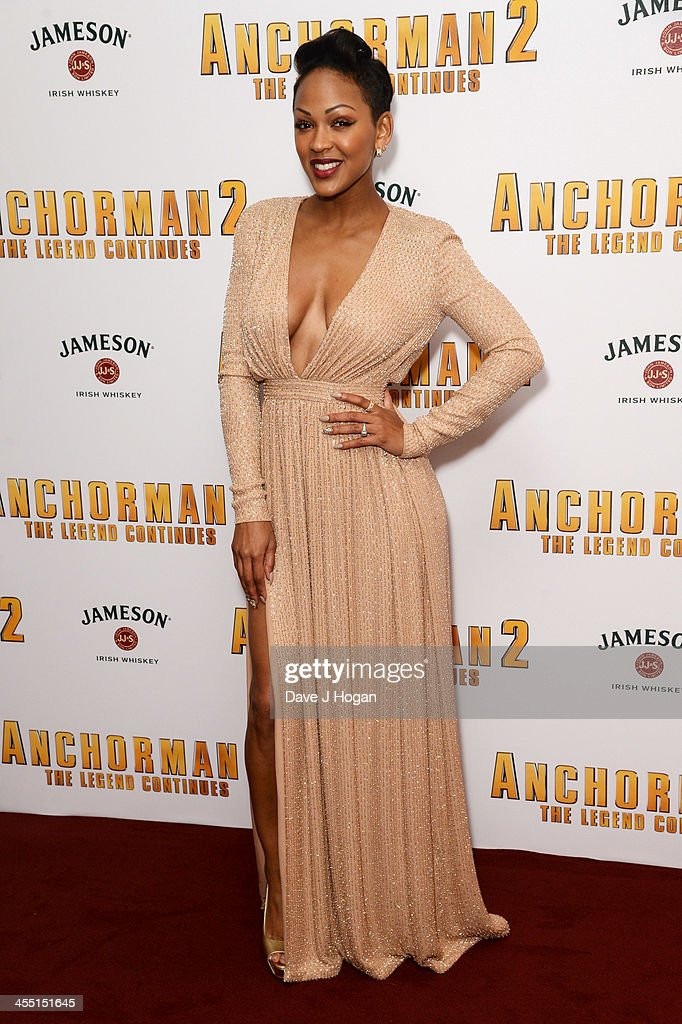 <a gi-track='captionPersonalityLinkClicked' href=/galleries/search?phrase=Meagan+Good&family=editorial&specificpeople=171680 ng-click='$event.stopPropagation()'>Meagan Good</a> attends the UK premiere of 'Anchorman 2: The Legend Continues' at The Vue West End on December 11, 2013 in London, England.
