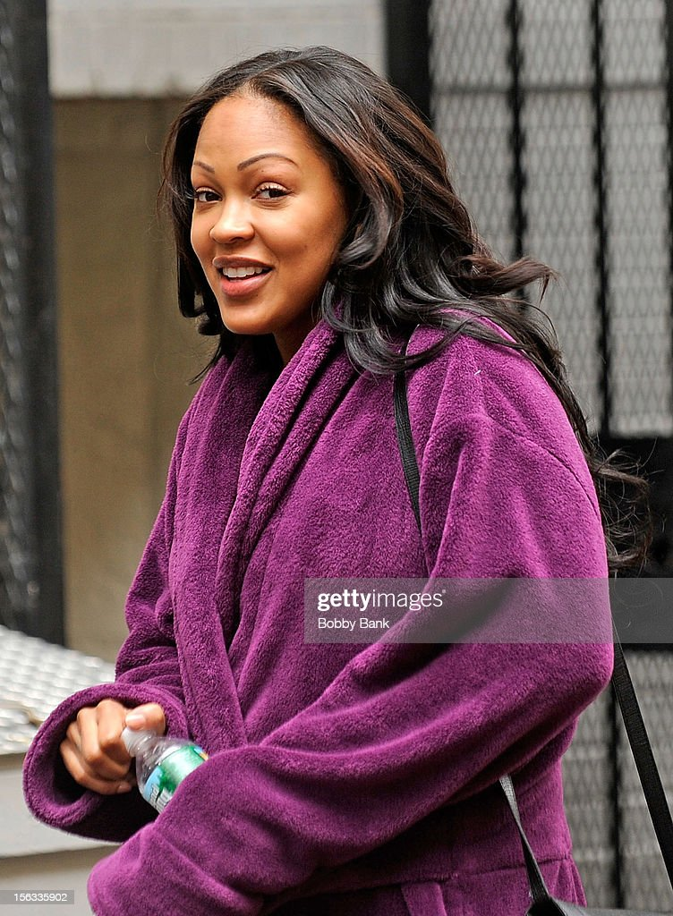 Meagan Good filming on location for 'Infamous' on November 13, 2012 in New York City.