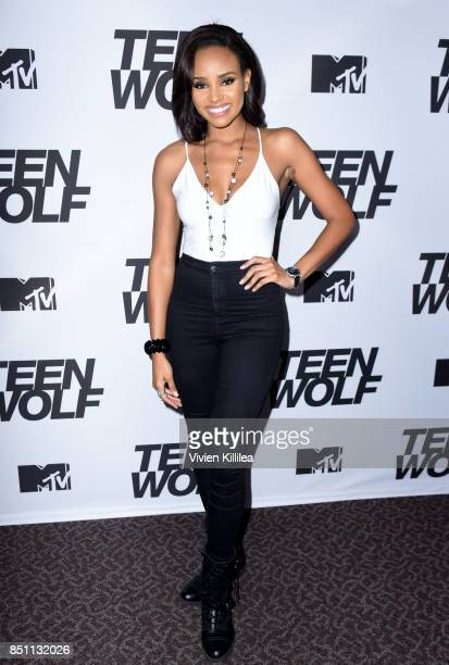 Meagan Tandy at the MTV Teen Wolf 100th episode screening and series wrap party at DGA Theater on September 21 2017 in Los Angeles California
