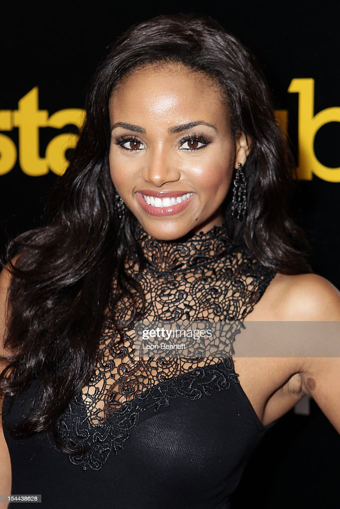 Meagen Tandy arrives at the J. Cole Performs At Footaction's 'Own The Stage' Celebration at W Hollywood on October 19, 2012 in Hollywood, California.