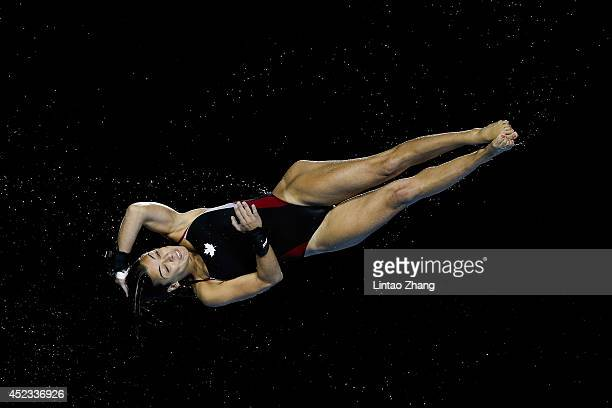 Meaghan Benfeito of Canada compete in the Women's Platform Final during day four of the 19th FINA Diving World Cup at the Oriental Sports Center on...
