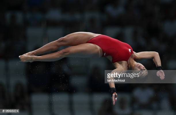 Meaghan Benfeito of Canada competes in the final of the Women's 10m Platform during day six of the FINA World Championships on July 19 2017 in...