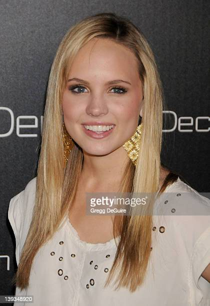 Meaghan Martin arrives at the Launch of Decades Denim at the home of Julia Sorkin on November 2 2010 in Beverly Hills California