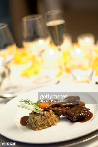 Meal at the Hotel Terme di Saturnia