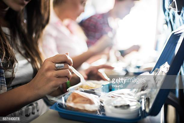 Meal in the airplane.
