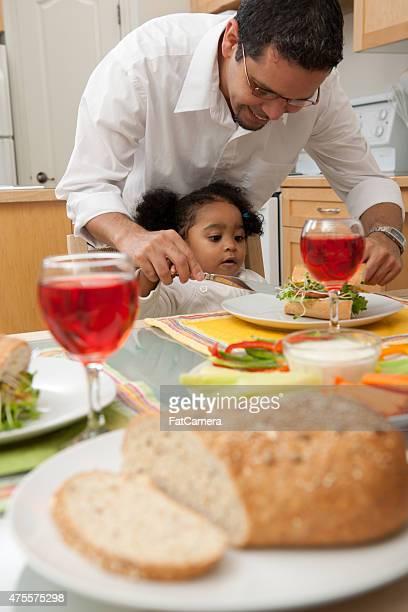 Refeição tempo com a família