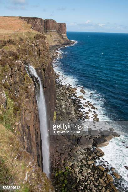 Mealt waterfall with kilt rock, Isle of Skye, Scotland