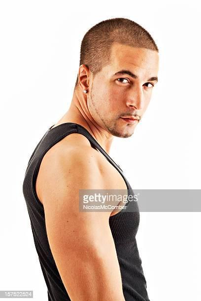 Signifie Caucasien homme portant une Débardeur