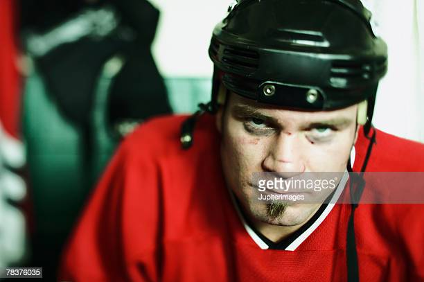 Mean ice hockey player