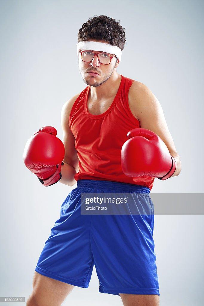 Mean nerdy boxer