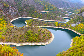 Meander of Uvac river, Serbia