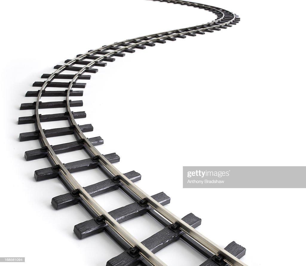 Meandering railway track