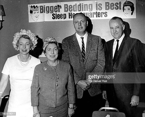 APR 26 1967 Measure Your Mattress Promotion Launched Denver area representatives of mattress and bedding firms and home furnishings dealers held a...