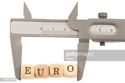 measurement of euro : Stock Photo