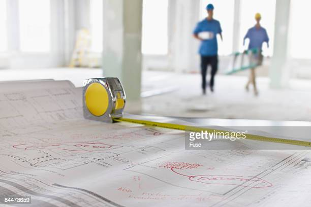 Measuring Tape on Building Plans