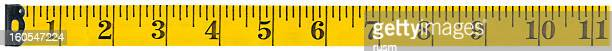 Measuring tape on white background, clipping path