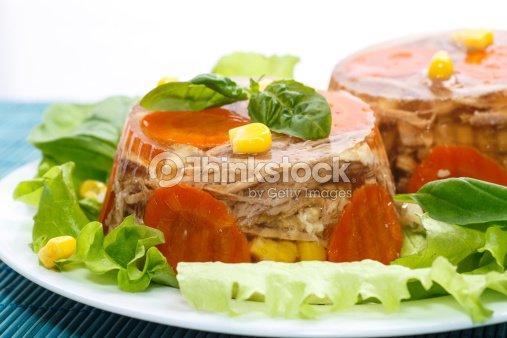 Carne aspic : Foto de stock