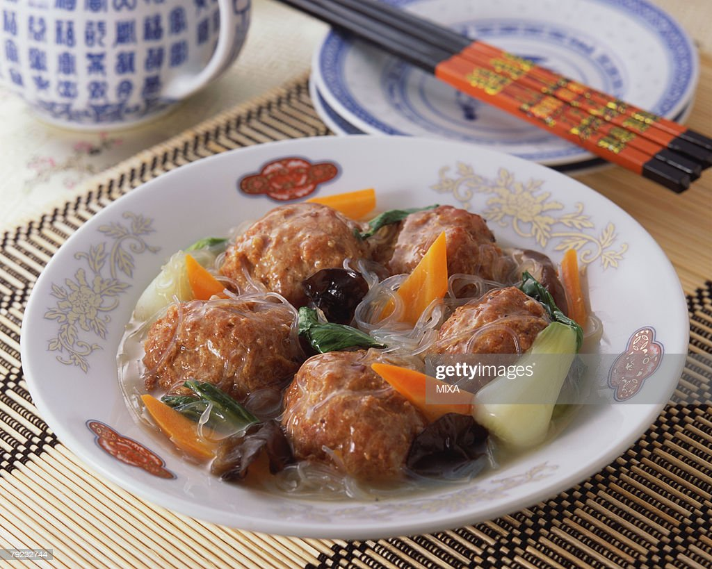 Meat Ball with Vegetables : Stock Photo