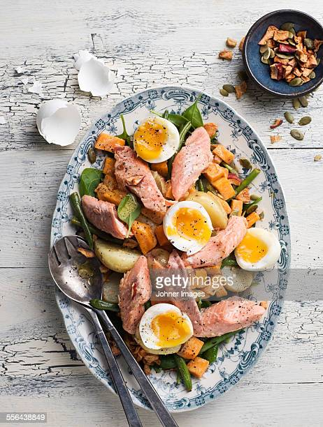 Meat dish with eggs