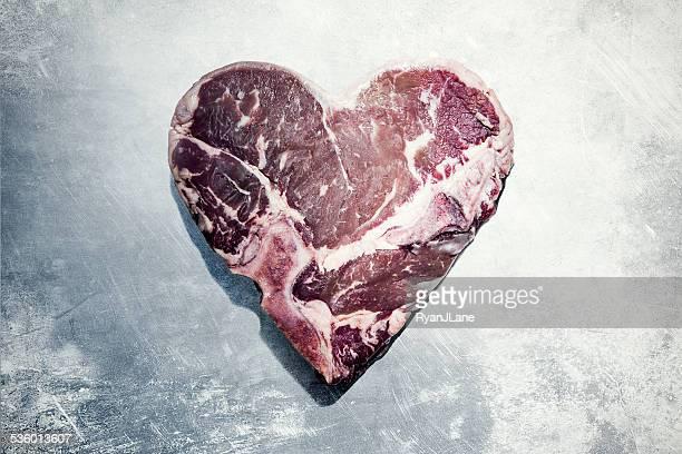 Fleisch Herz Valentinstag