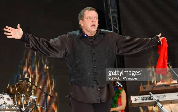 Meat Loaf performing on stage at the Capital Radio Party in the Park in Hyde Park London The concert is being held in aid of The Prince's Trust...