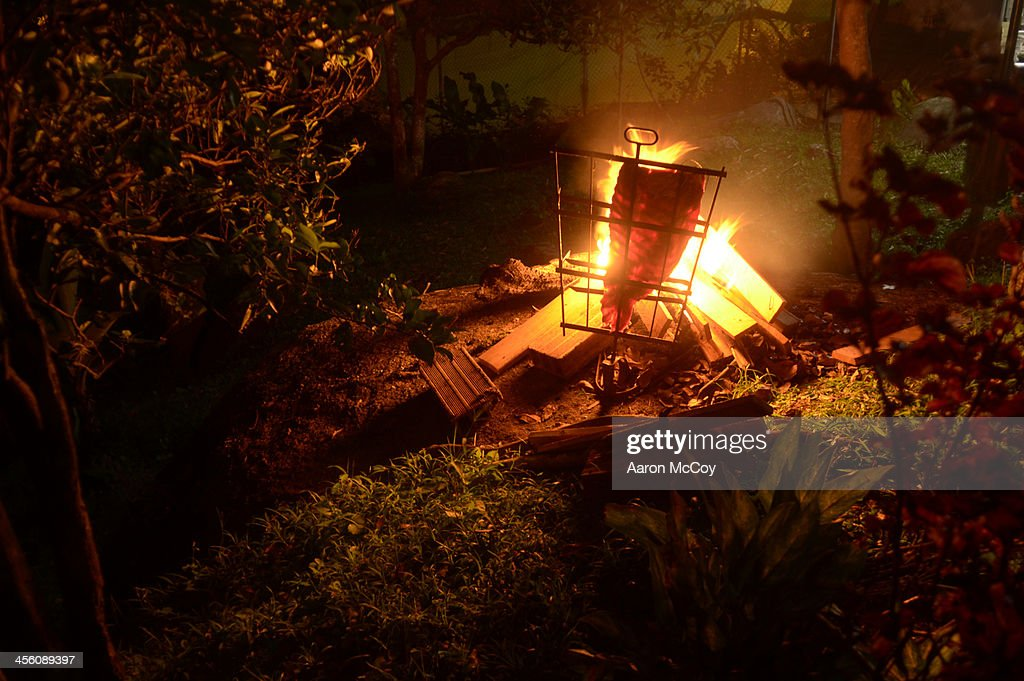 Meat on the fire : Stock Photo