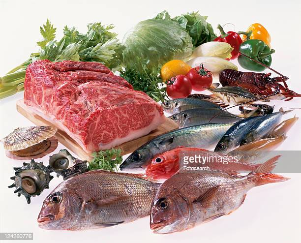 Meat, Sea Food, Vegetables