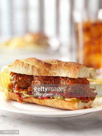 Meatball Sandwich with Marinara Sauce