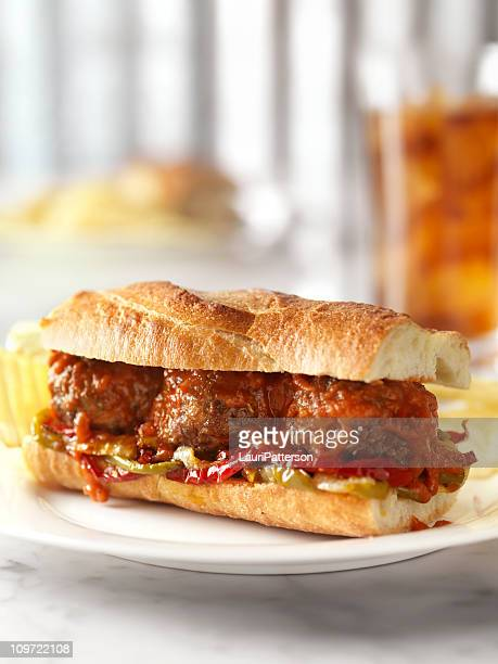 Meatball Sandwich with Marinara Sauce