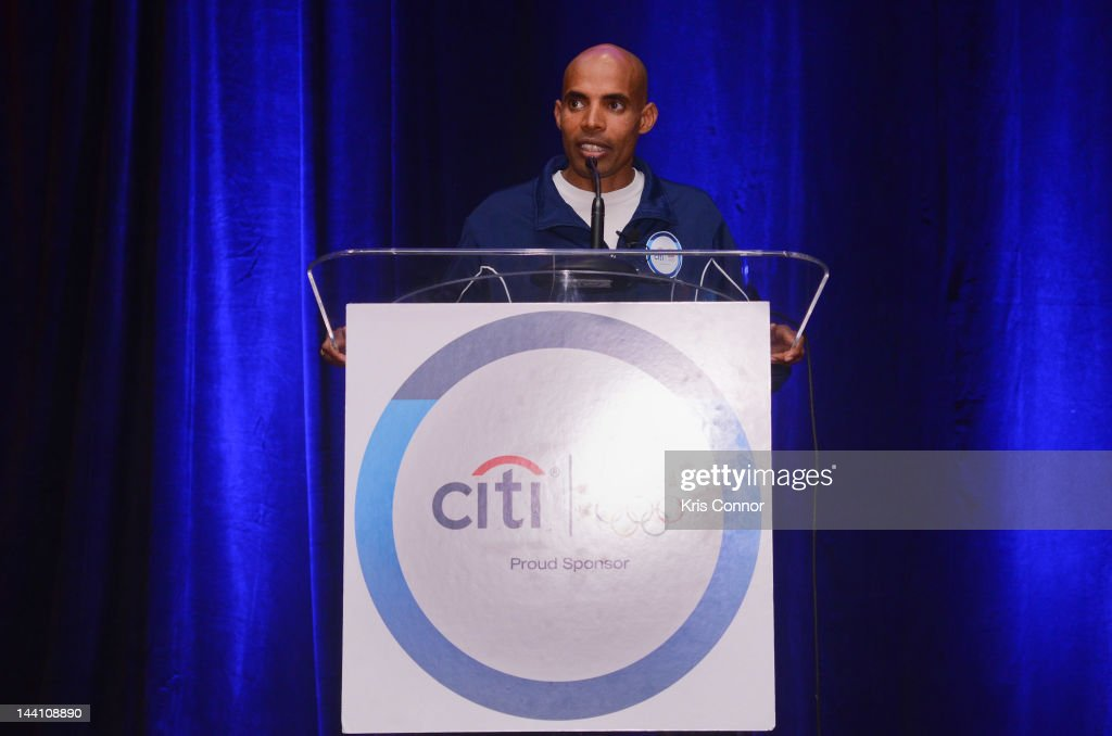 <a gi-track='captionPersonalityLinkClicked' href=/galleries/search?phrase=Meb+Keflezighi&family=editorial&specificpeople=225084 ng-click='$event.stopPropagation()'>Meb Keflezighi</a> speaks at an event to celebrate Citi's Team USA sponsorship and mark its 200th anniversary at the Hyatt Regency Washington on Capitol Hill on May 9, 2012 in Washington, DC.
