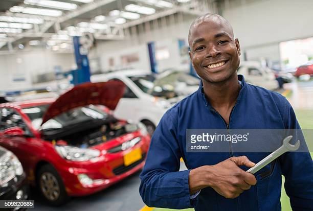 Mechanic at a car garage