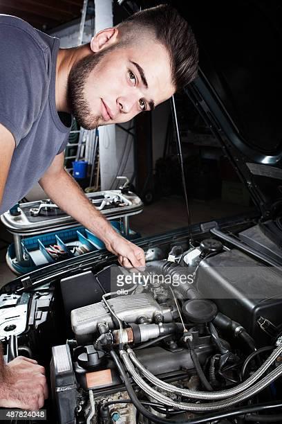 Mechanic car repair engine motor