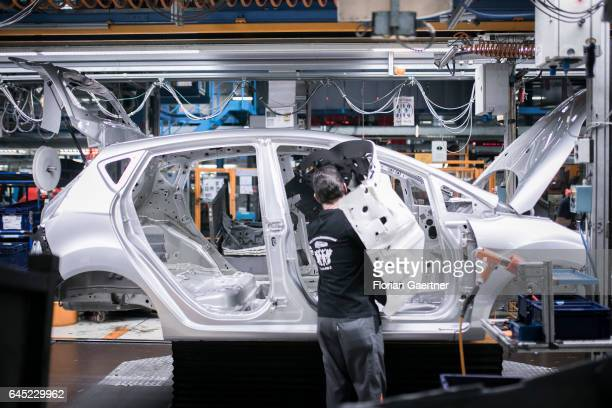 A mechanic during the assembly of a Ford Fiesta at the Ford plant in CologneNiehl on February 15 2017 in Cologne Germany