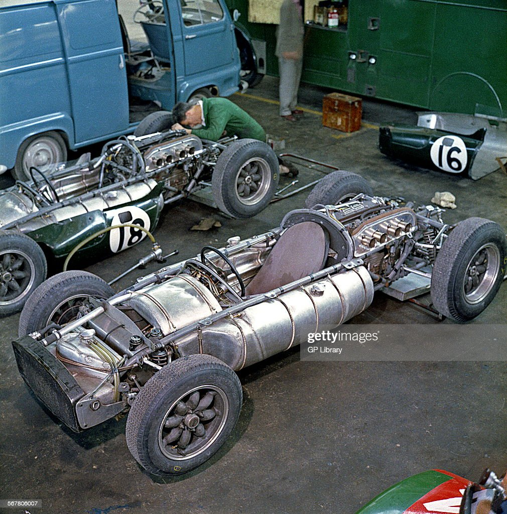 Mechanic Mike Barney Preparing Cooper Climax Type Cars For Jack