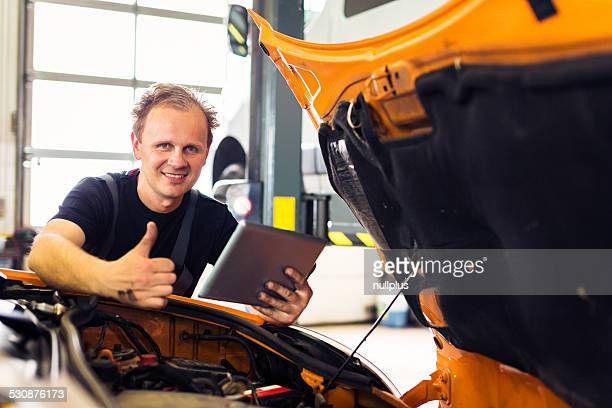 mechanic working at the workshop