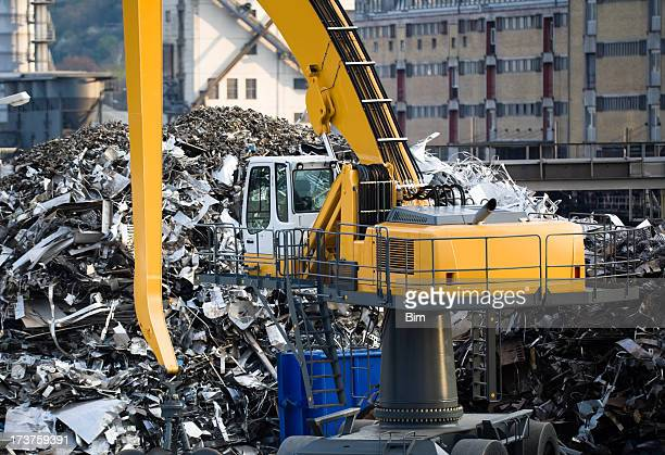 Mechanical Grabber at Recycling Plant