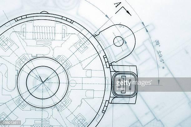 Mechanische Industrie Technische Zeichnung