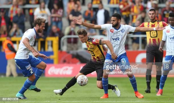 20170812 Mechelen Belgium / Kv Mechelen v Kaa Gent / 'nDamien MARCQ Glenn CLAES Dylan BRONN'nFootball Jupiler Pro League 2017 2018 Matchday 3 /...
