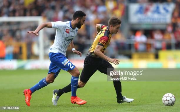 20170812 Mechelen Belgium / Kv Mechelen v Kaa Gent / 'nDylan BRONN Glenn CLAES'nFootball Jupiler Pro League 2017 2018 Matchday 3 / 'nPicture by...