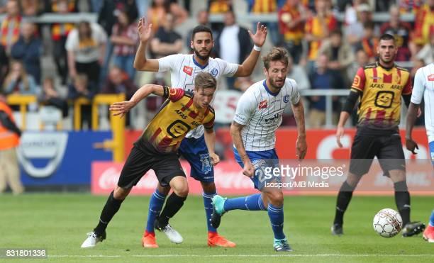 20170812 Mechelen Belgium / Kv Mechelen v Kaa Gent / 'nGlenn CLAES Dylan BRONN Damien MARCQ'nFootball Jupiler Pro League 2017 2018 Matchday 3 /...
