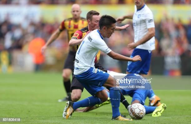20170812 Mechelen Belgium / Kv Mechelen v Kaa Gent / 'nRob SCHOOFS Yuya KUBO'nFootball Jupiler Pro League 2017 2018 Matchday 3 / 'nPicture by Vincent...