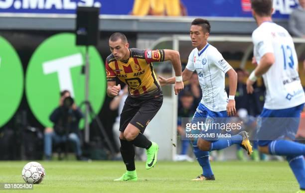 20170812 Mechelen Belgium / Kv Mechelen v Kaa Gent / 'nStefan DRAZIC Yuya KUBO'nFootball Jupiler Pro League 2017 2018 Matchday 3 / 'nPicture by...