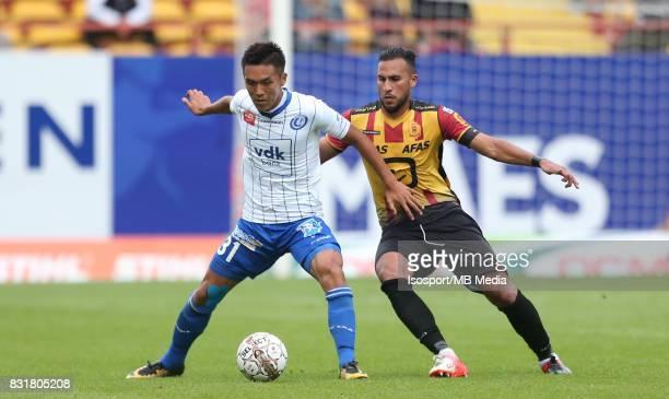20170812 Mechelen Belgium / Kv Mechelen v Kaa Gent / 'nYuya KUBO Faycal RHERRAS'nFootball Jupiler Pro League 2017 2018 Matchday 3 / 'nPicture by...