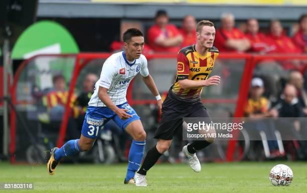 20170812 Mechelen Belgium / Kv Mechelen v Kaa Gent / 'nYuya KUBO Rob SCHOOFS'nFootball Jupiler Pro League 2017 2018 Matchday 3 / 'nPicture by Vincent...