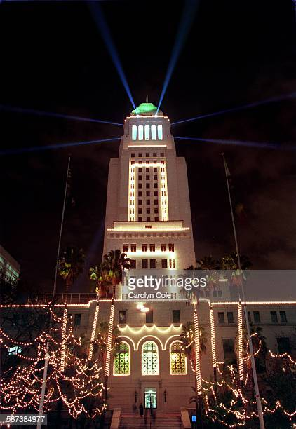 cc los angeles city hall shines with christmas lights donated and installed by the pictures getty images