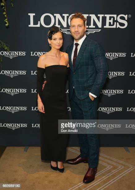 Mecki Dent and Jai Courtney attend The Championships Day 2 Queen Elizabeth Stakes at Royal Randwick Racecourse on April 8 2017 in Sydney Australia