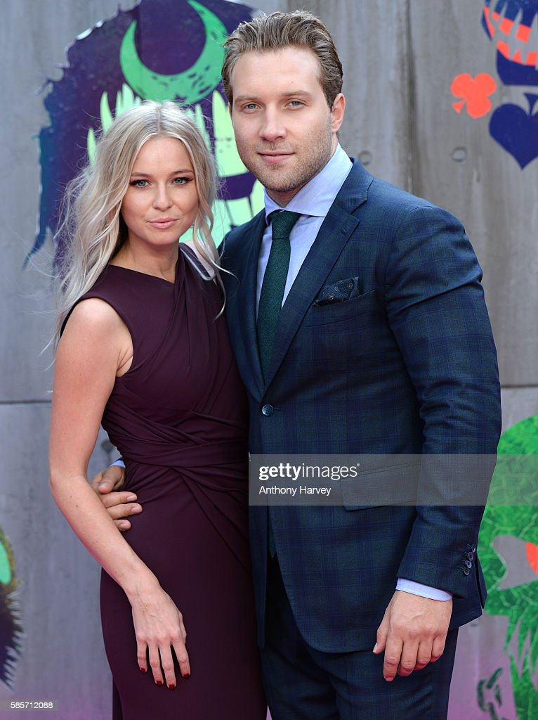 Mecki Dent and Jai Courtney attend the European Premiere of 'Suicide Squad' at Odeon Leicester Square on August 3, 2016 in London, England.